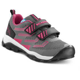 Scarpa Hook & Loop Shoes Kids gray/fuxia
